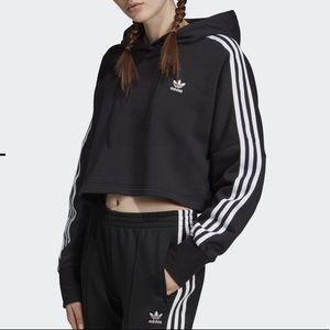 BNWT Adidas Cropped Hood Hoodie sz Small